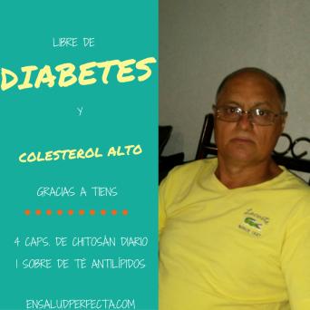 Libre de diabetes y colesterol alto gracias a Tiens